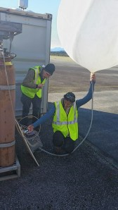 Thanks to NCAR EOL's Bill Brown for training me in! First DEEPWAVE upsonde launch earlier this week